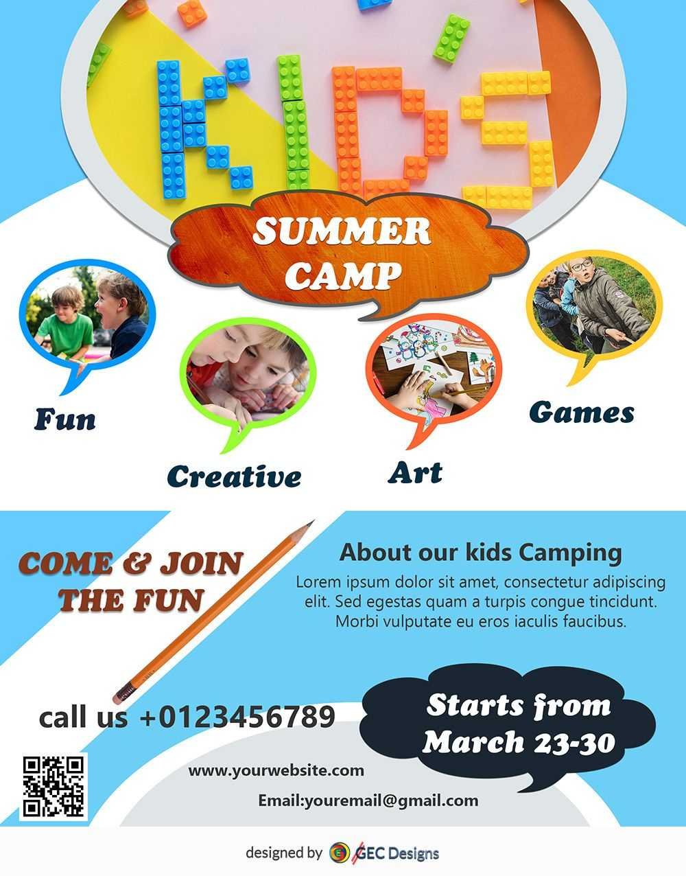 038 Download Free Flyer Templates Design Inspiration With Regard To Summer Camp Brochure Template Free Download