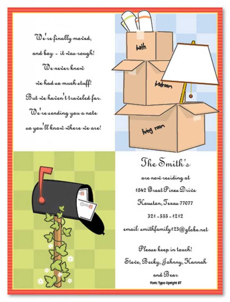 038 Housewarming Invitation Template Microsoft Word Free With Regard To Moving House Cards Template Free