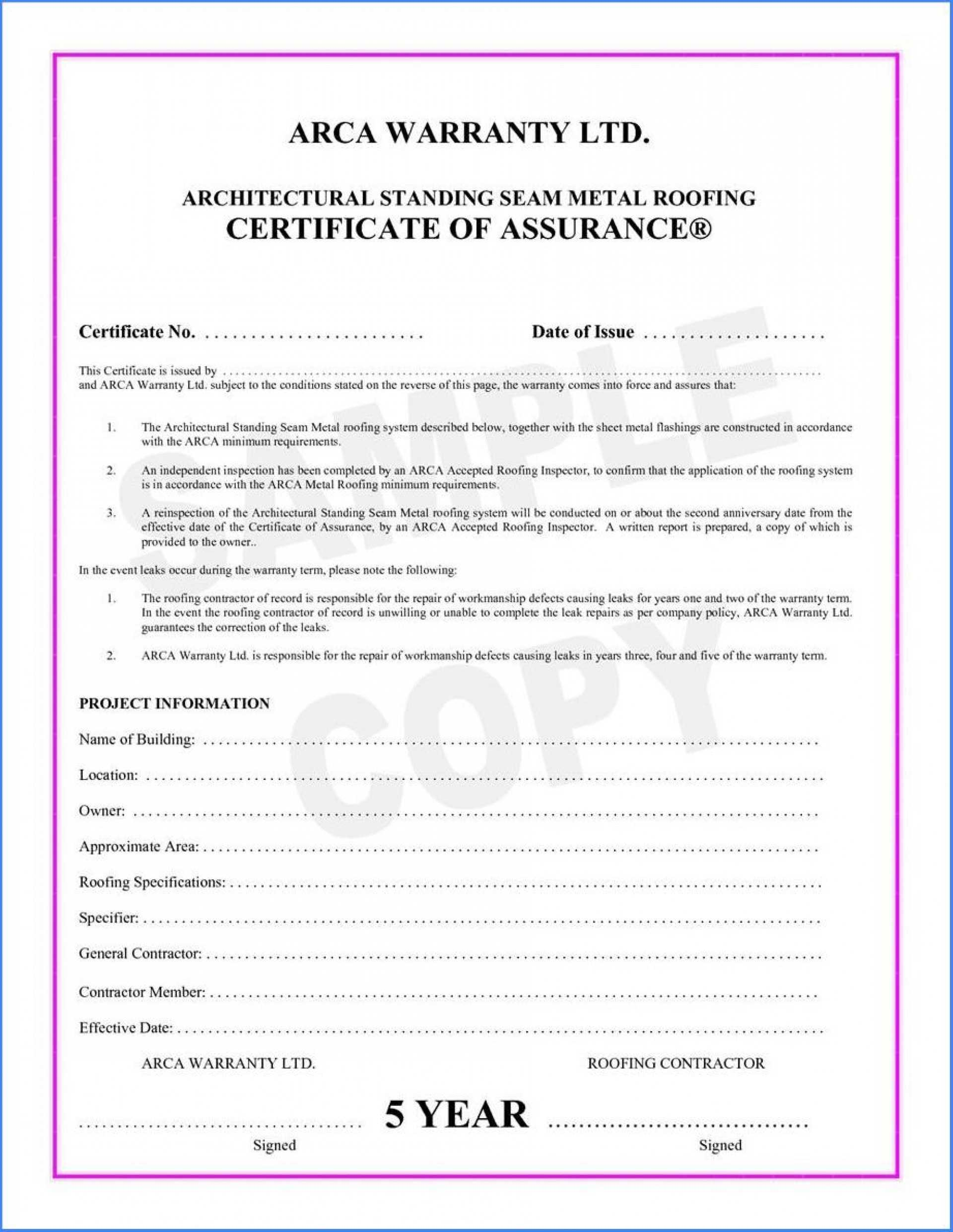 038 Template Ideas Certificate Of Final Completion Form For Intended For Construction Certificate Of Completion Template