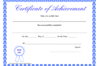 047 Template Ideas Free Printable Diploma Awards regarding Certificate Of Achievement Template For Kids
