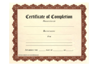 10 Certificate Of Completion Templates Free Download Images for Certificate Of Completion Free Template Word