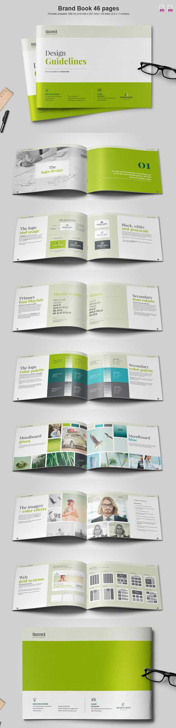100 Professional Corporate Brochure Templates | Design Inside 12 Page Brochure Template