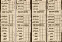 10Th Santharian Anniversary Special: The Compendium Clue inside Clue Card Template