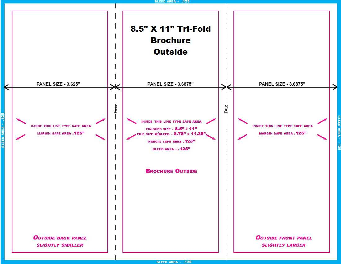 11 In. And 14 In. Templates Regarding 8.5 X11 Brochure Template