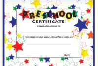 11+ Preschool Certificate Templates – Pdf | Free & Premium with regard to Free Printable Graduation Certificate Templates
