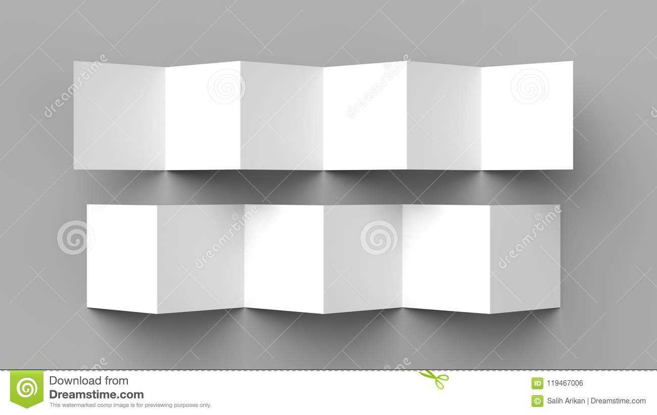 12 Page Leaflet, 6 Panel Accordion Fold – Z Fold Square Throughout 12 Page Brochure Template