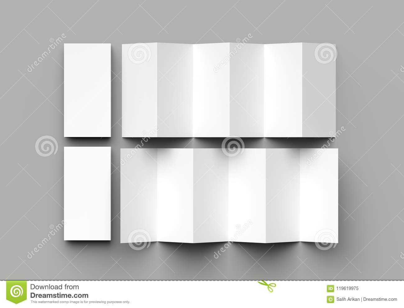 12 Page Leaflet, 6 Panel Accordion Fold - Z Fold Vertical In 12 Page Brochure Template