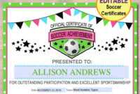 13+ Soccer Award Certificate Examples – Pdf, Psd, Ai in Soccer Award Certificate Template