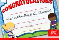 13+ Soccer Award Certificate Examples – Pdf, Psd, Ai with regard to Soccer Certificate Templates For Word