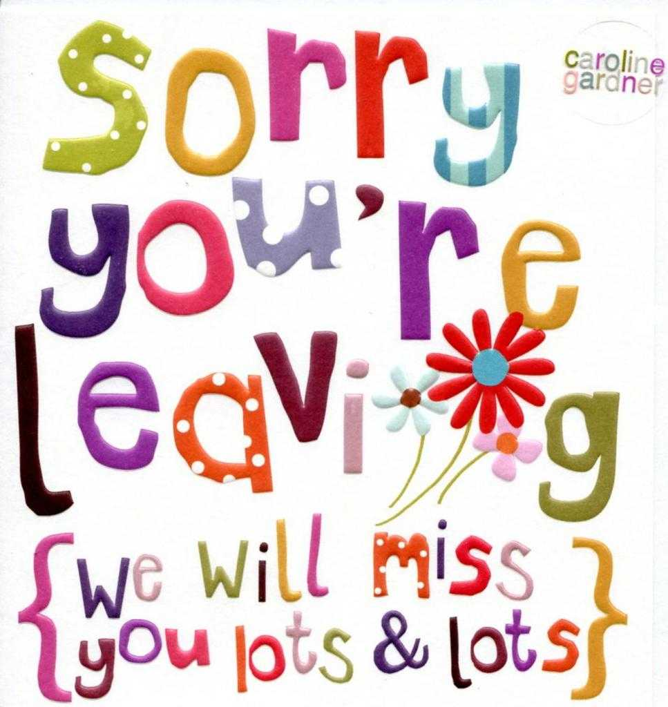 1311 Goodbye Free Clipart Regarding Sorry You Re Leaving Card Template