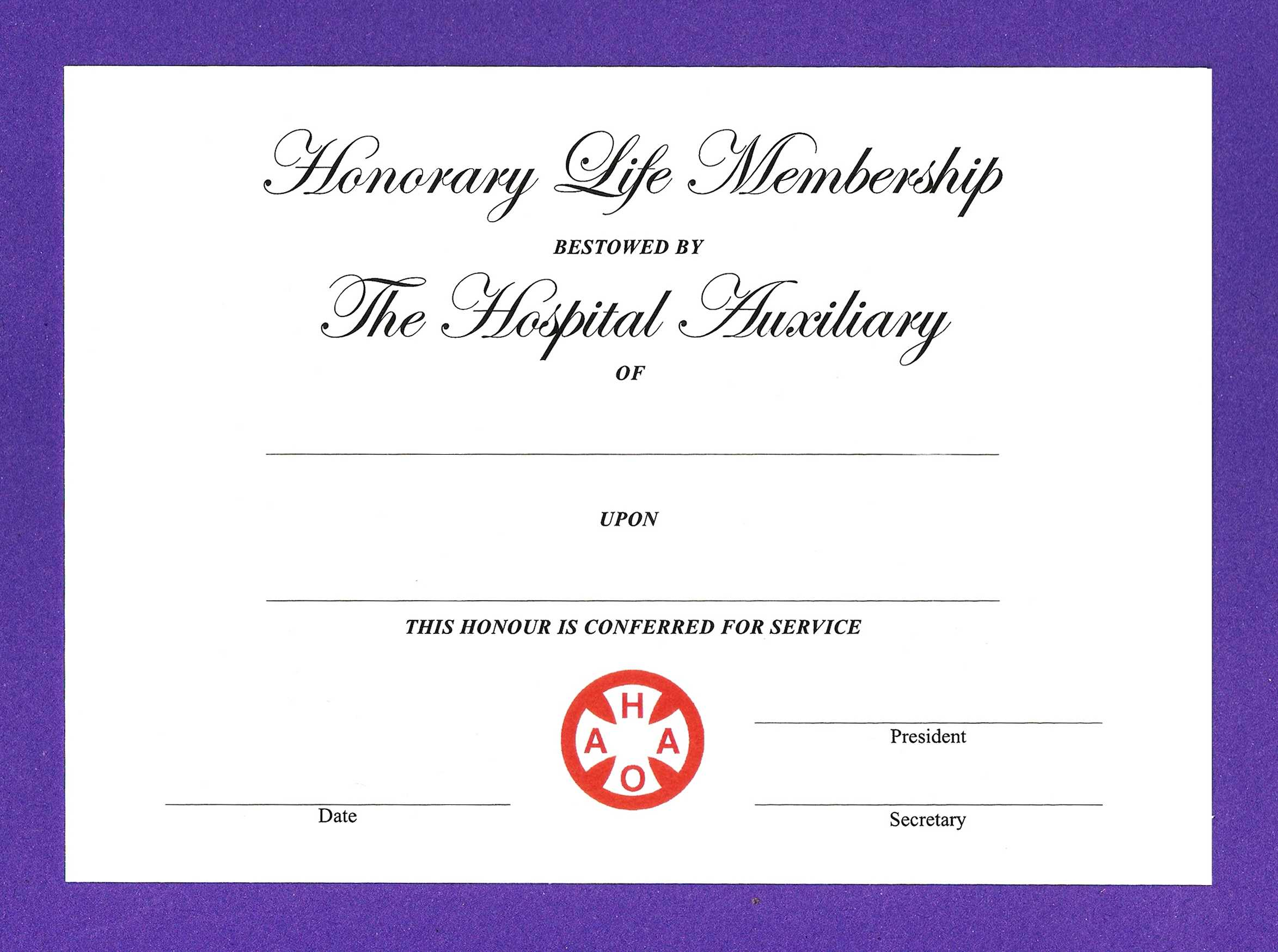 14+ Honorary Life Certificate Templates – Pdf, Docx | Free In New Member Certificate Template