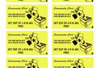 15 Best Photos Of Print Monopoly Chance Cards – Monopoly inside Get Out Of Jail Free Card Template
