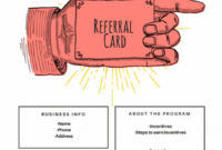 15 Examples Of Referral Card Ideas And Quotes That Work for Referral Card Template