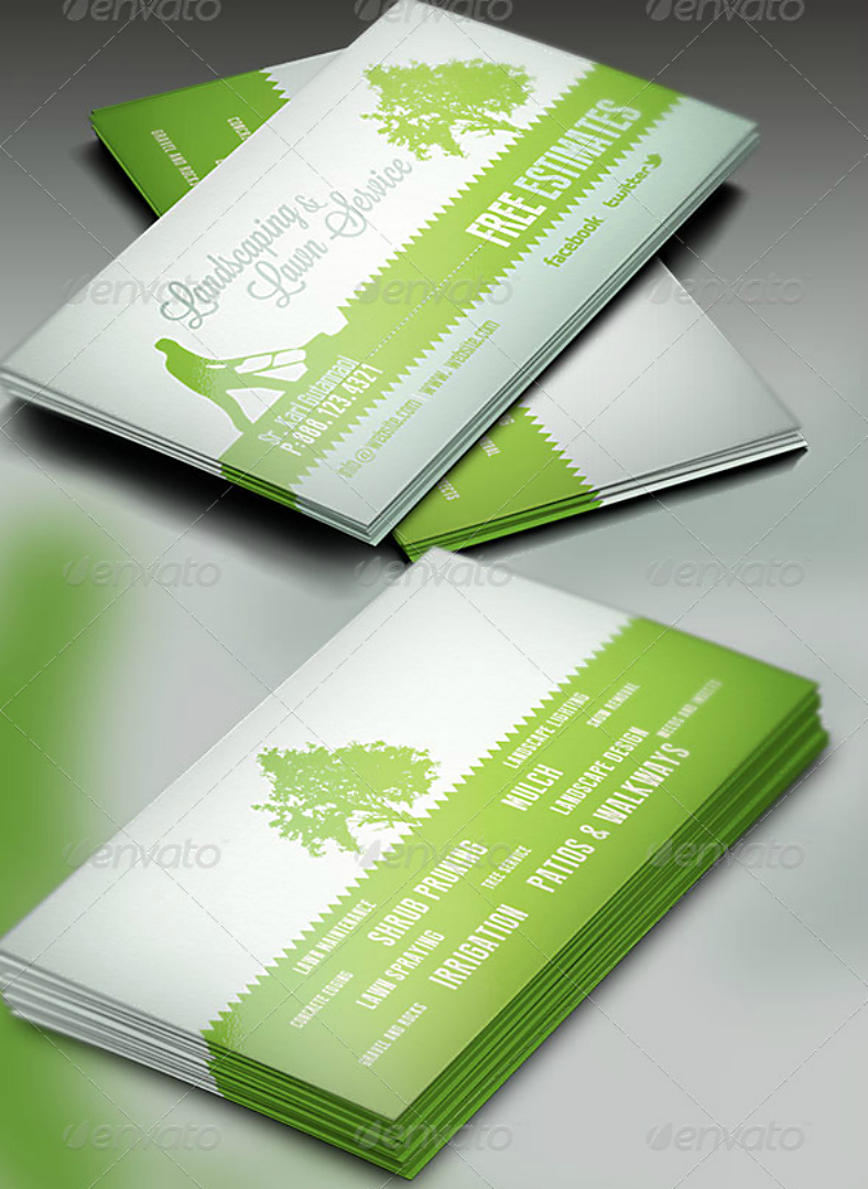 15+ Landscaping Business Card Templates - Word, Psd | Free Throughout Gardening Business Cards Templates