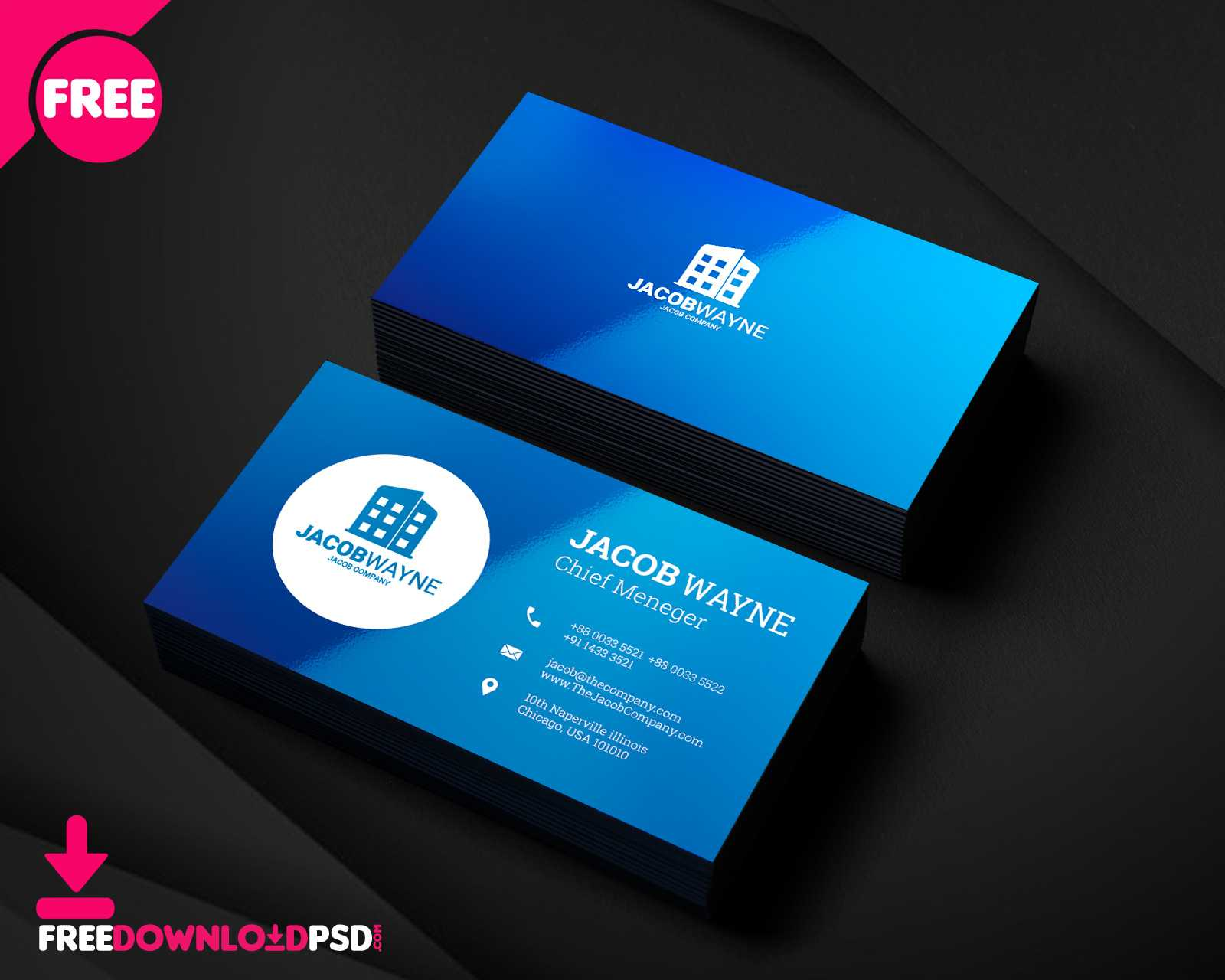 150+ Free Business Card Psd Templates Inside Name Card Design Template Psd