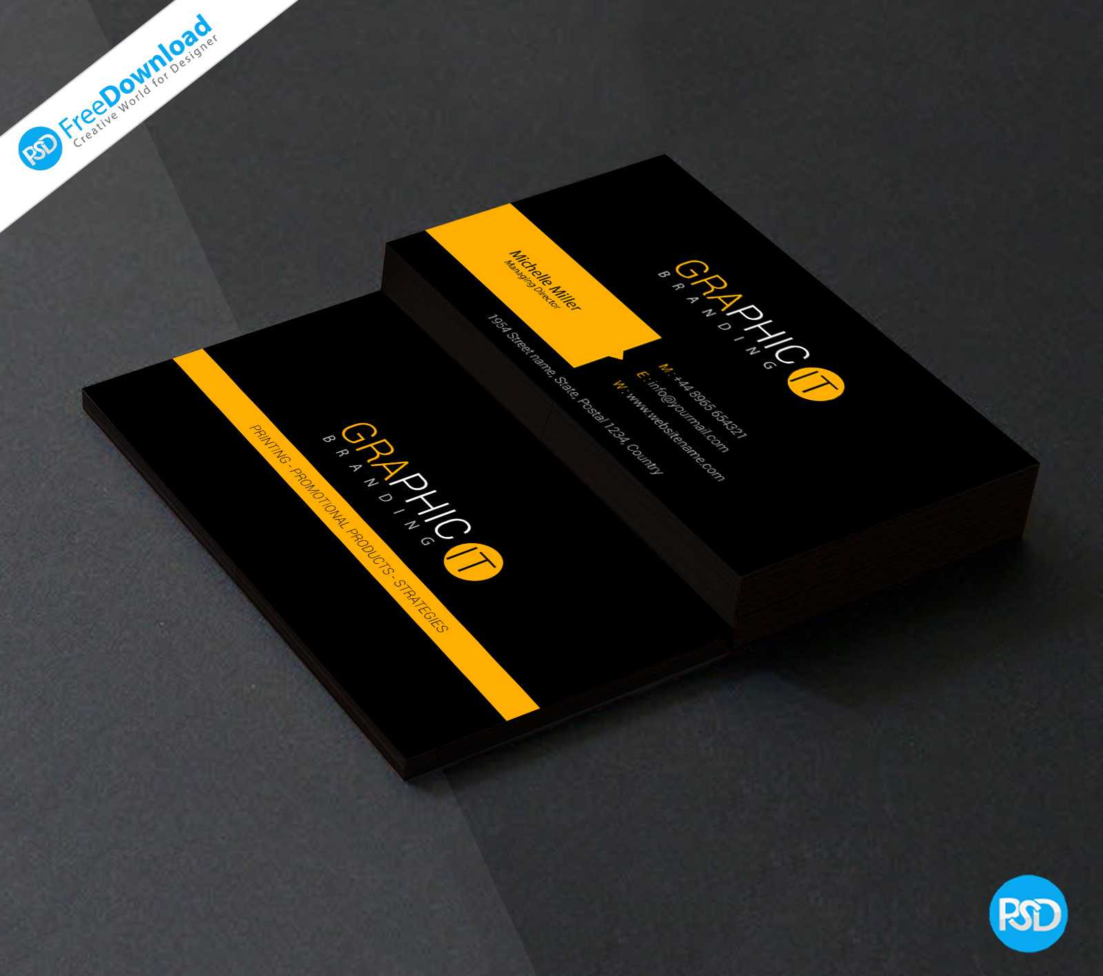 150+ Free Business Card Psd Templates With Regard To Name Card Template Psd Free Download