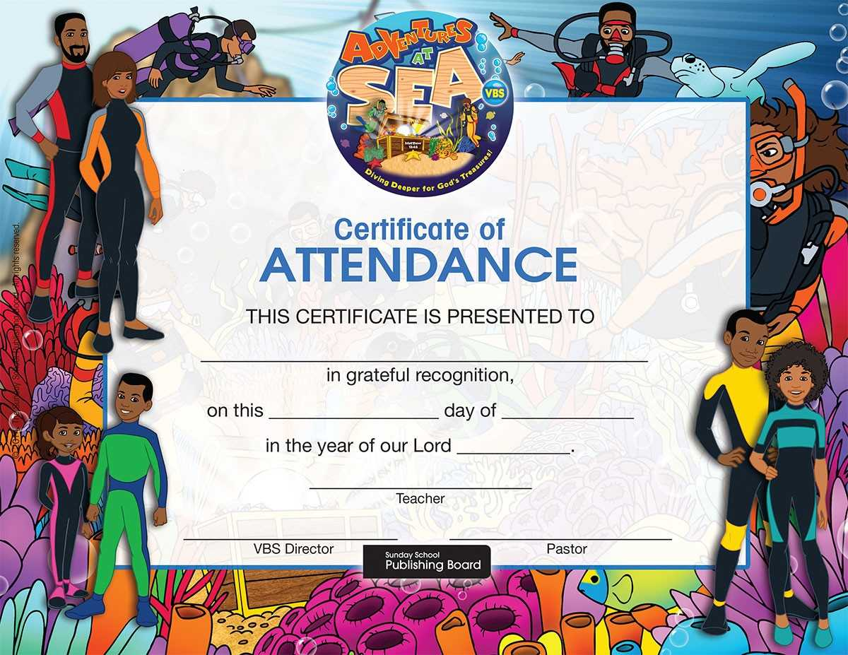 17 Images Of Attendance Certificate Template For Vbs Inside Vbs Certificate Template