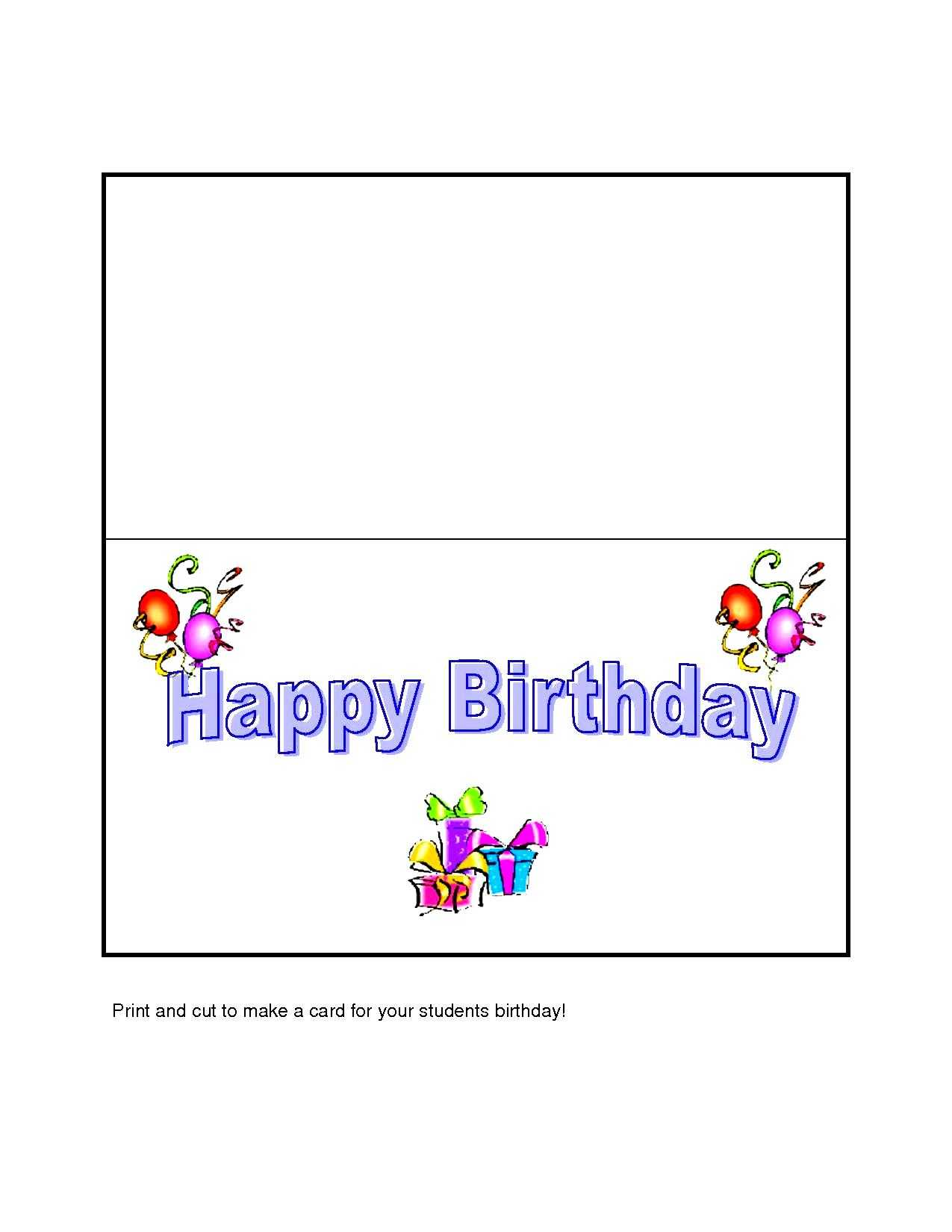 17 Images Of Birthday Party Card Template | Splinket Inside Microsoft Word Birthday Card Template