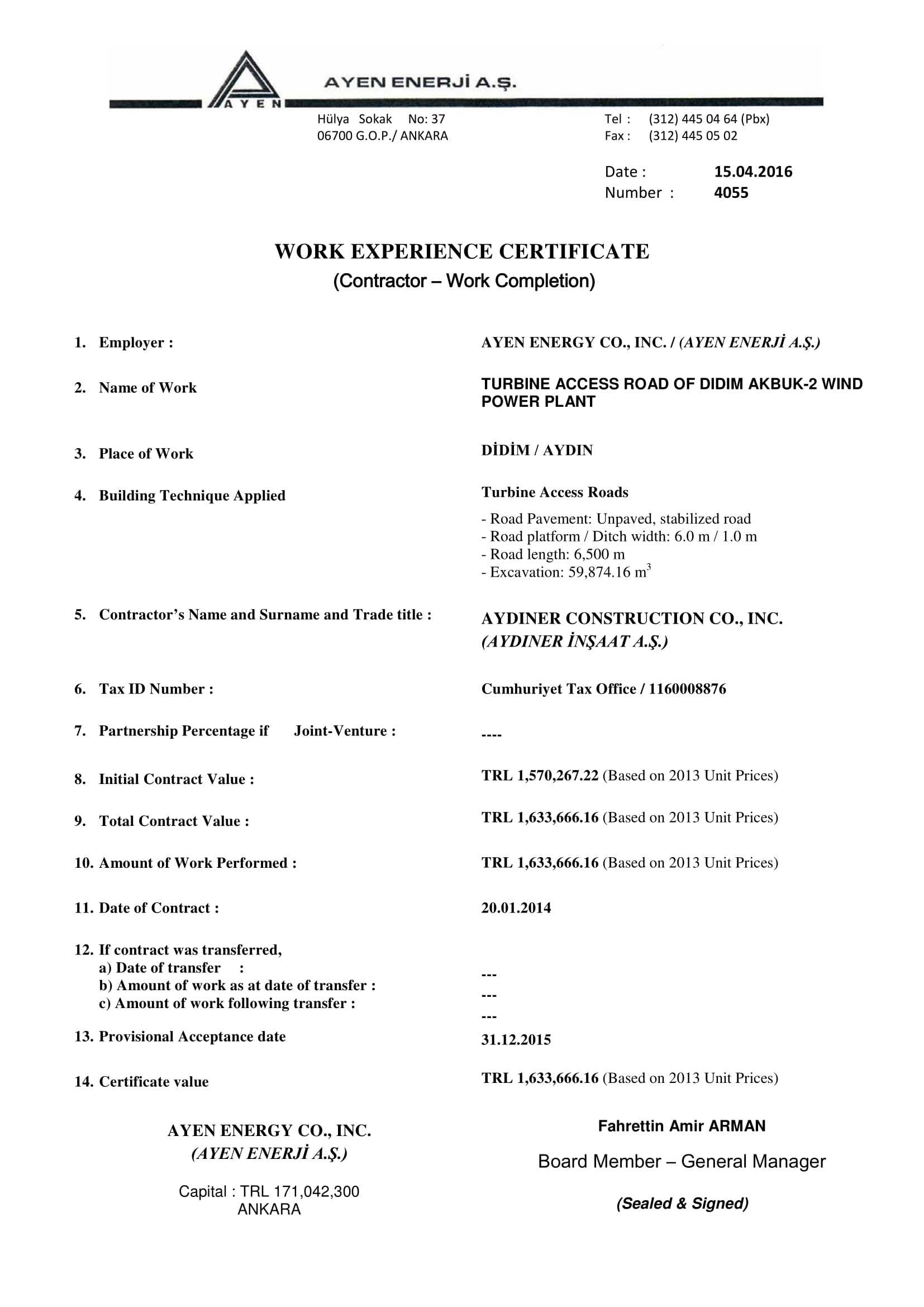 18+ Experience Letter Templates In Pdf | Free & Premium In Australian Doctors Certificate Template