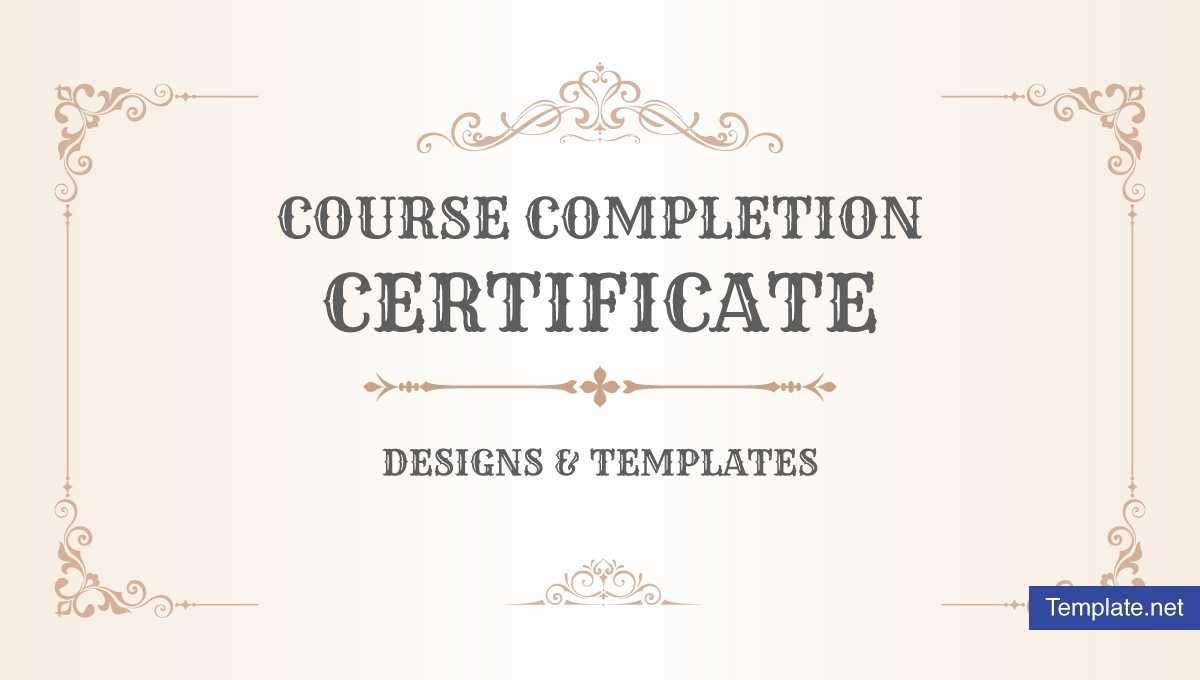 19+ Course Completion Certificate Designs & Templates – Psd With Regard To Free Training Completion Certificate Templates