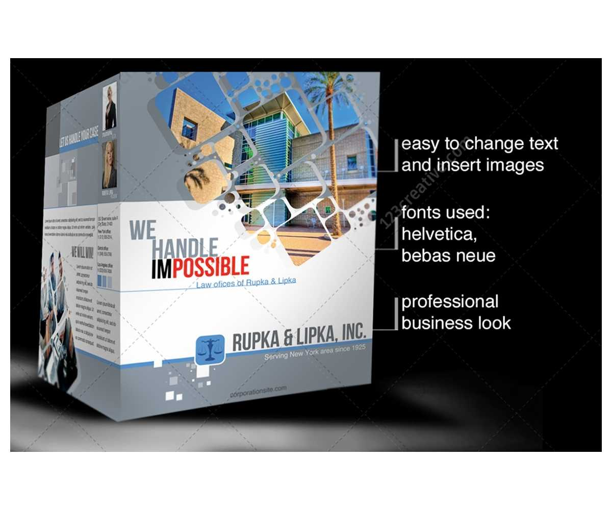 2 Pages Corporate Brochure Template For Construction Throughout Engineering Brochure Templates
