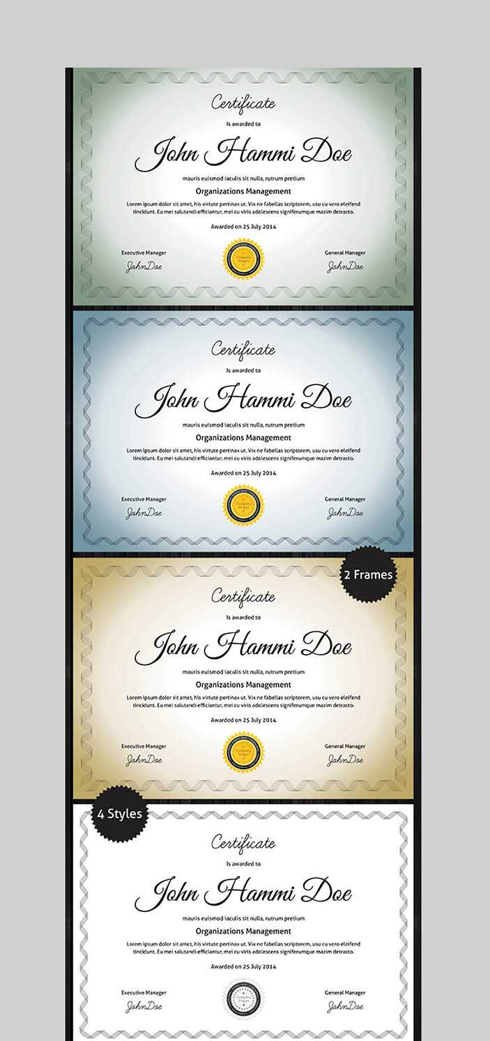 20 Best Word Certificate Template Designs To Award Throughout Professional Certificate Templates For Word
