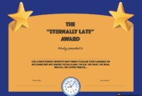 20 Hilarious Office Awards To Embarrass Your Colleagues pertaining to Funny Certificates For Employees Templates
