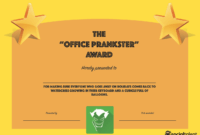 20 Hilarious Office Awards To Embarrass Your Colleagues with Funny Certificates For Employees Templates