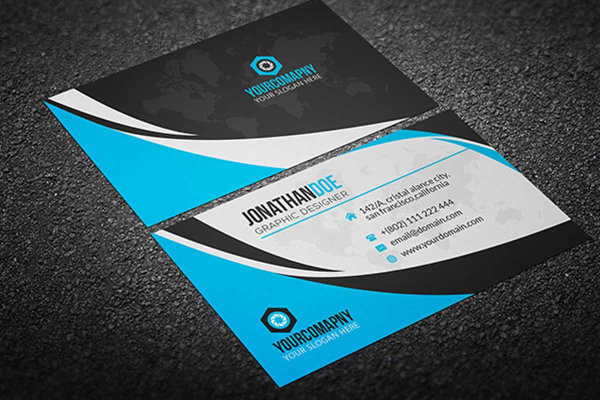 200 Free Business Cards Psd Templates - Creativetacos With Regard To Visiting Card Templates For Photoshop