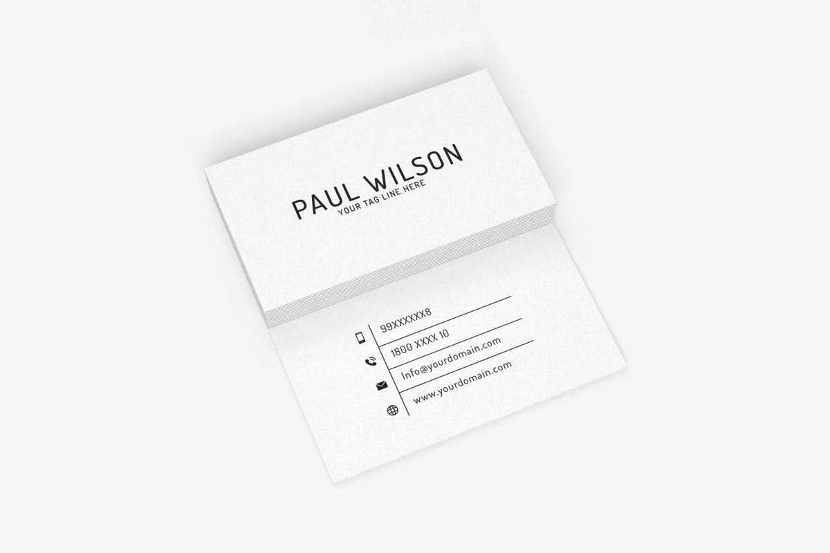 200 Free Business Cards Psd Templates – Creativetacos Within Business Card Size Template Psd