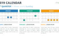 2019 Calendar Powerpoint Templates intended for Microsoft Powerpoint Calendar Template