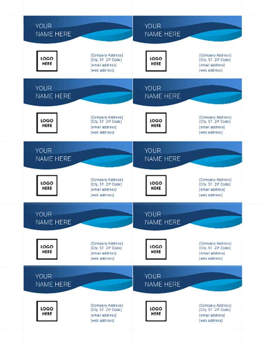 25+ Free Microsoft Word Business Card Templates (Printable With Word Template For Business Cards Free
