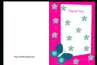 26 Unique Free Baby Shower Cards Printable – Baby Shower regarding Free Printable Thank You Card Template
