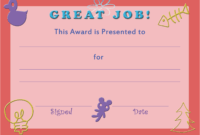 28+ [ Free Printable Certificate Templates For Kids regarding Certificate Of Achievement Template For Kids