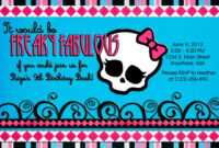 28+ [ Monster High Birthday Card Template ] | Gallery For Gt pertaining to Monster High Birthday Card Template