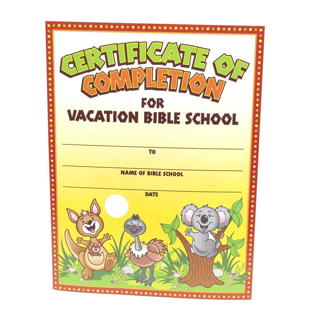 28+ [ Vbs Certificate Template ] | Vacation Bible School For Vbs Certificate Template