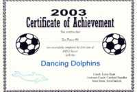 29 Images Of Blank Award Certificate Template Soccer throughout Soccer Award Certificate Template