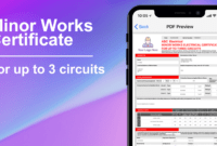 3 Circuit Minor Works Electrical Certificate – Icertifi intended for Electrical Minor Works Certificate Template