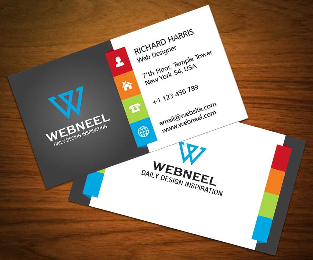 3 Colorful Corporate Business Card Template - Freedownload For Web Design Business Cards Templates