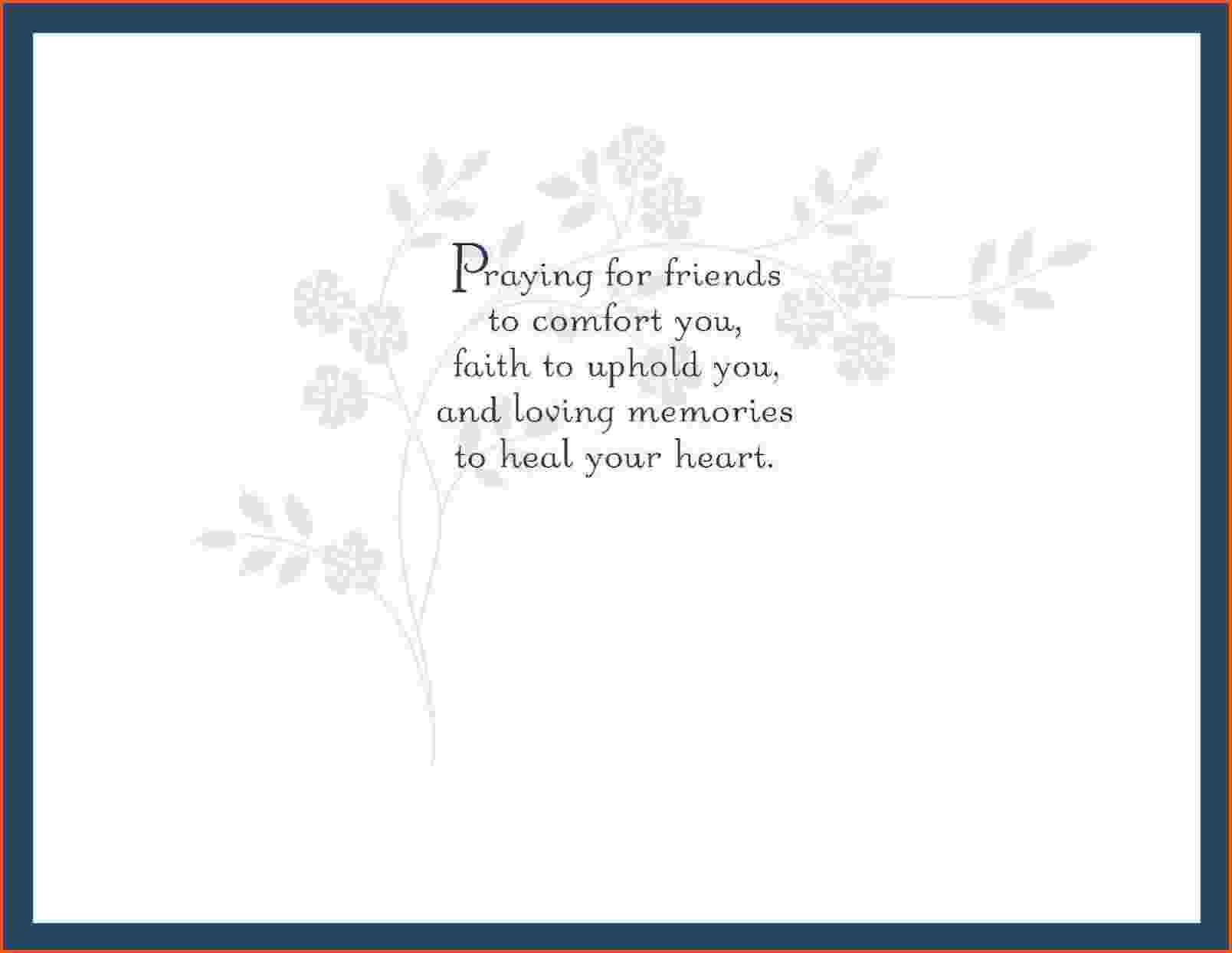 3 Sympathy Card Template | Survey Template Words With Regard To Sorry For Your Loss Card Template