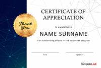 30 Free Certificate Of Appreciation Templates And Letters intended for Free Printable Student Of The Month Certificate Templates