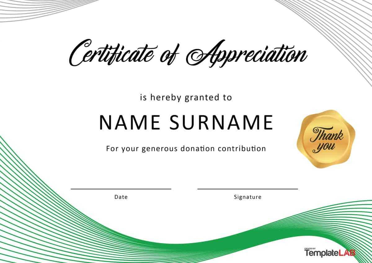 30 Free Certificate Of Appreciation Templates And Letters Within Certificate Of Recognition Word Template