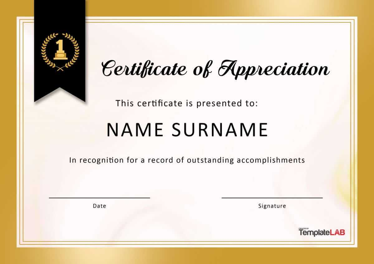 30 Free Certificate Of Appreciation Templates And Letters Within Free Certificate Of Appreciation Template Downloads