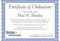 30 Fresh Minister License Certificate Template Pictures in Free Ordination Certificate Template