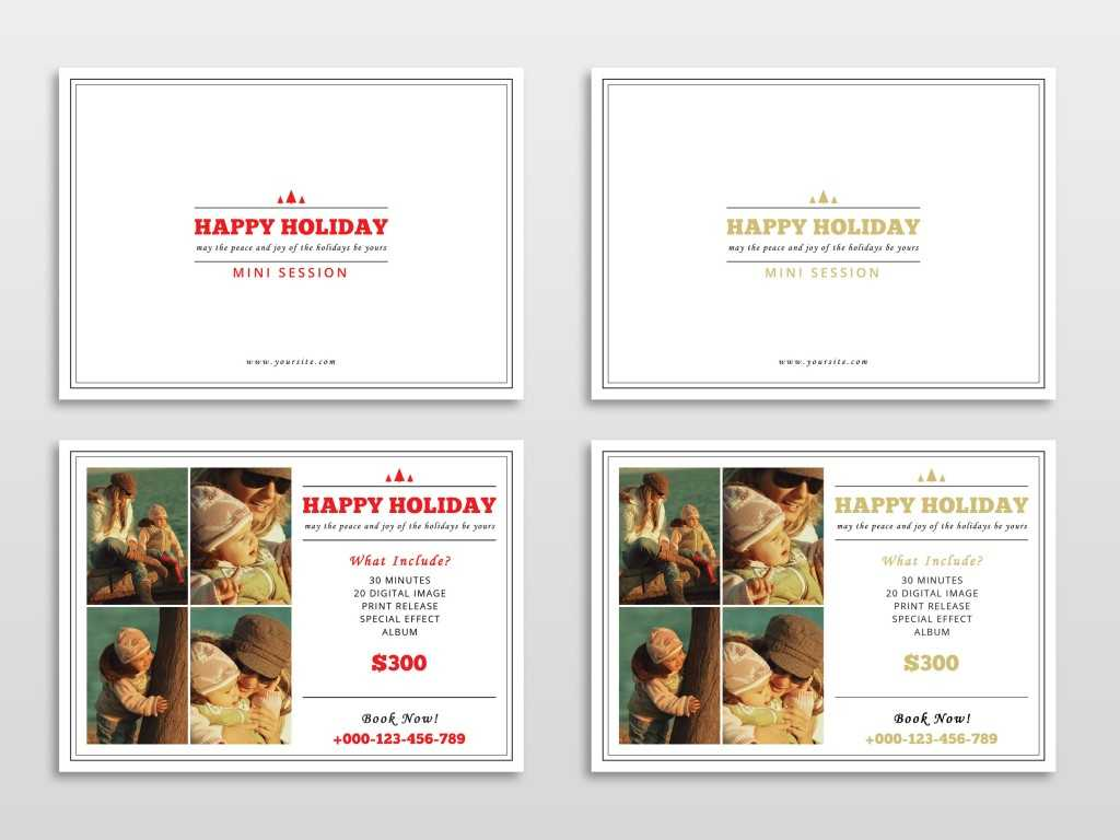30 Holiday Card Templates For Photographers To Use This Year With Free Christmas Card Templates For Photographers