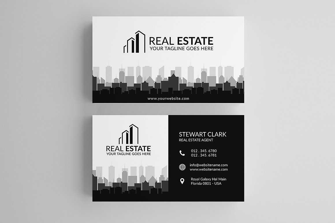 30+ Modern Real Estate Business Cards Psd | Decolore Regarding Real Estate Agent Business Card Template