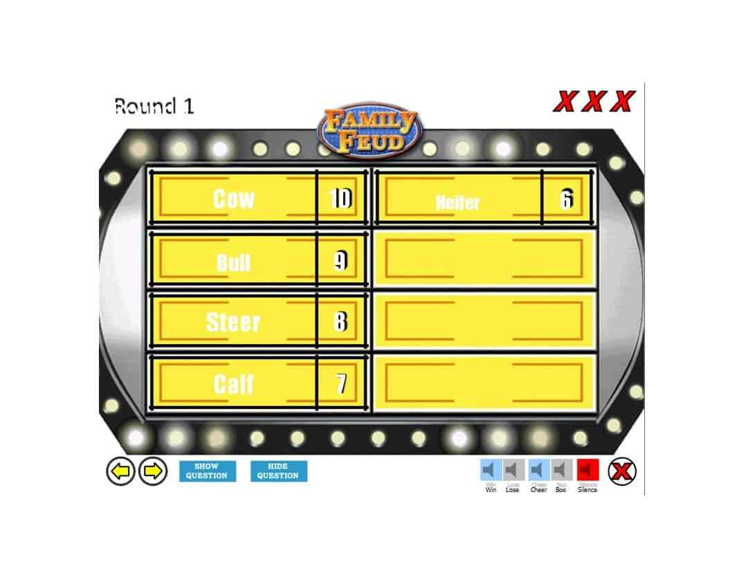 31 Great Family Feud Templates (Powerpoint, Pdf & Word) ᐅ For Family Feud Game Template Powerpoint Free