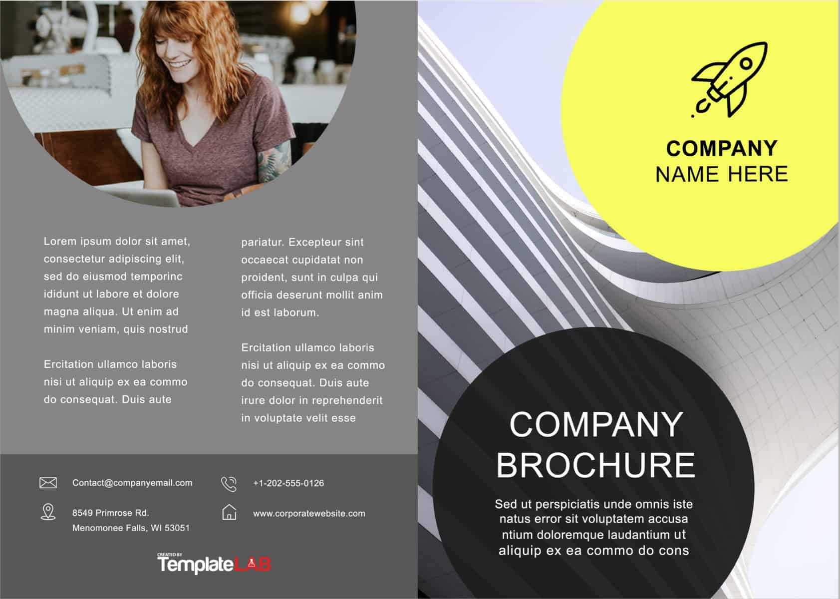 33 Free Brochure Templates (Word + Pdf) ᐅ Template Lab Intended For Creative Brochure Templates Free Download