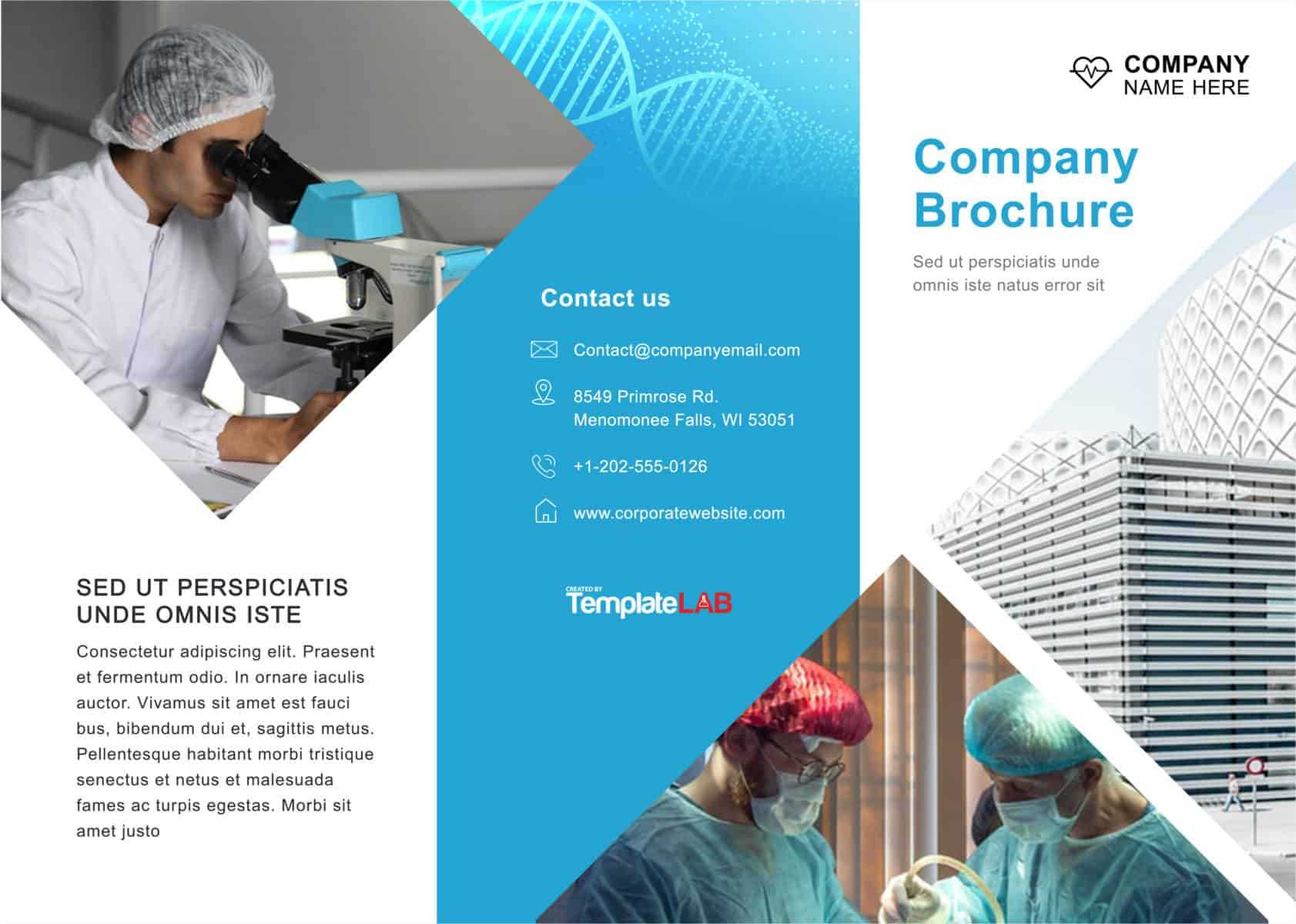 33 Free Brochure Templates (Word + Pdf) ᐅ Template Lab Pertaining To Engineering Brochure Templates Free Download
