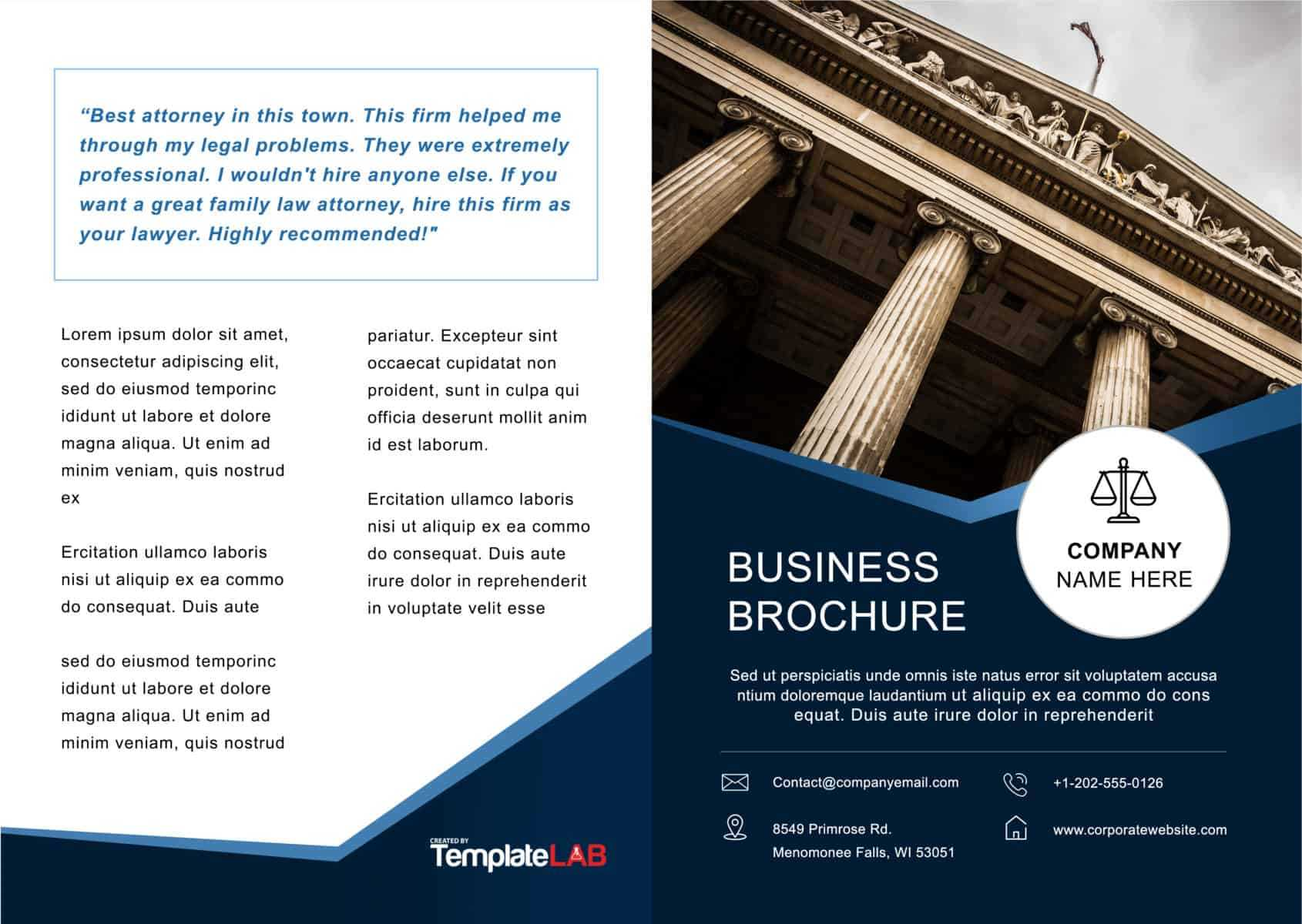 33 Free Brochure Templates (Word + Pdf) ᐅ Template Lab Within Half Page Brochure Template